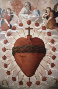 Alegorías del Sagrado Corazón de Jesús y la Santísima Trinidad - Fray Miguel de Herrera