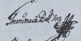 Firma de Gerónimo de Balbás