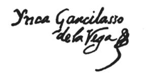 Firma de Inca Garcilaso de la Vega