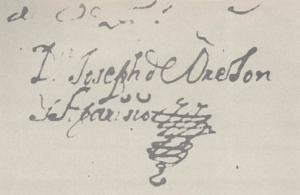 Firma de José de Orejón y Aparicio