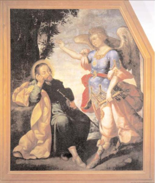 Sueño de San José por José Rodríguez Carnero, Museo Nacional del Virreinato, Tepotzotlán, estado de México