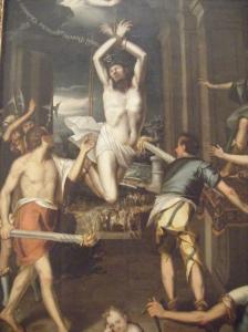 El martirio de San Ponciano-Baltasar de Echave Orio