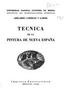 Técnica de la pintura de Nueva España