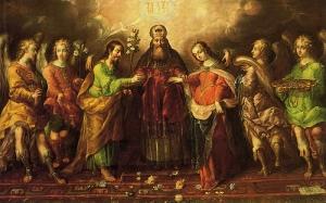 Los desposorios de la virgen - Cristóbal de Villalpando