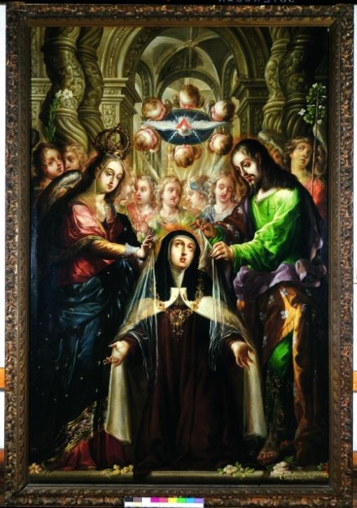 Santa Teresa Recibiendo el Collar