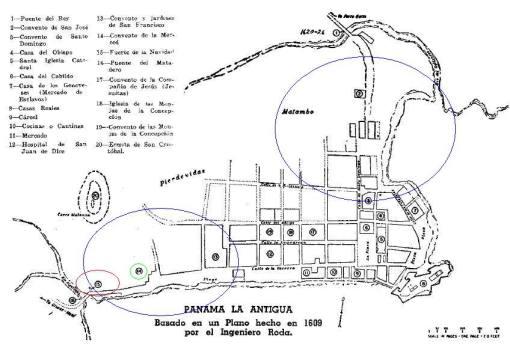 Mapa de Panama Viejo