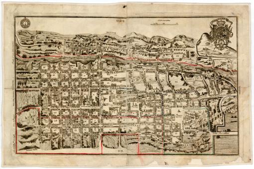 Plano de Querétaro México 1796