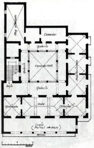 Planta de la casa del conde de Jaruco