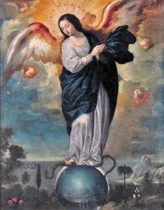 Virgen alada del Apocalípsis Miguel de Santiago