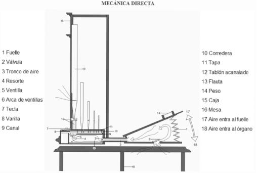 Órgano - Mecánica Directa