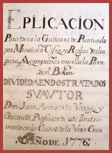 Carátula del manuscrito de México