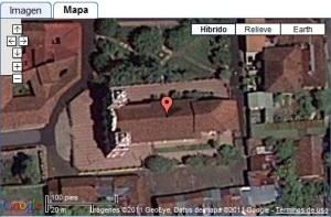 Iglesia del Calvario, León, Nicaragua - Mapa