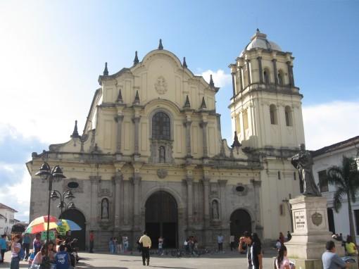 La iglesia de San Francisco en Popayán