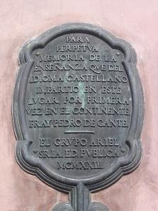 Lapida de la Capilla de San Antonio, Texcoco, Edo. De México, México