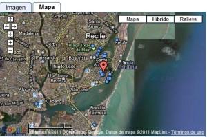 Basílica de Nuestra Señora del Carmen, Recife, Pernambuco, Brasil - Mapa