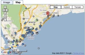 Catedral de Panamá la Vieja - Mapa
