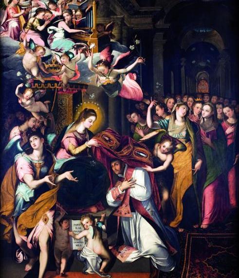 Imposición de la Casulla a san Ildefonso - Leonardo Jaramillo