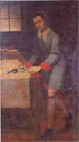 Juan Chacón, Sastre. Atribuido a Juan Francisco Ochoa. Oleo sobre tela, siglo XVII. (Iglesia de las Nieves).